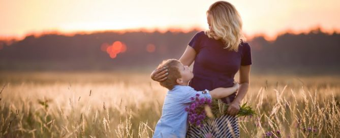 Happy Mother having Polycystic Ovarian Syndrome and Son